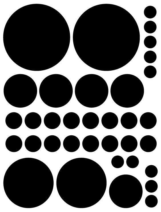 BLACK POLKA DOT WALL DECALS