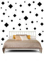 BLACK SQUARE WALL STICKERS