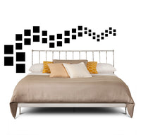 BLACK SQUARE WALL DECALS