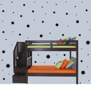BLACK STARBURST WALL GRAPHICS