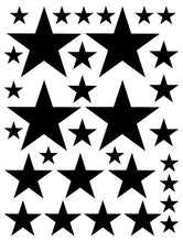 Load image into Gallery viewer, BLACK STAR WALL DECALS