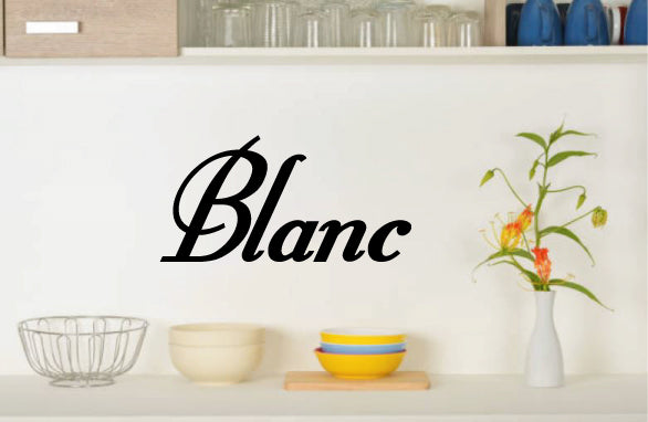 BLANC WALL DECAL