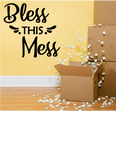 BLESS THIS MESS RELIGIOUS WALL DECAL