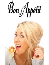 Load image into Gallery viewer, Bon Appetit French Word Wall Decal from Whimsidecals.com