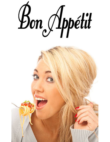 Bon Appetit French Word Wall Decal from Whimsidecals.com
