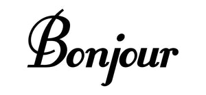 Bonjour wall decal from whimsidecals.om
