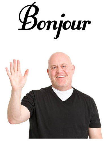 Bonjour Wall Sticker from whimsidecals.com