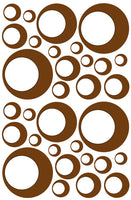 BROWN BUBBLE WALL STICKERS