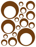 BROWN BUBBLE WALL DECALS