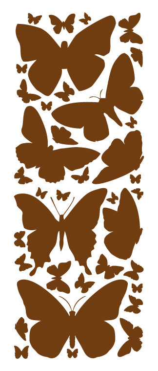 BROWN BUTTERFLY WALL DECALS