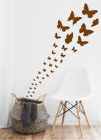 BROWN BUTTERFLY WALL STICKERS