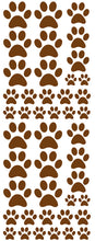 Load image into Gallery viewer, BROWN PAW PRINT DECALS