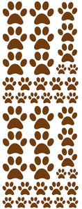 BROWN PAW PRINT DECALS