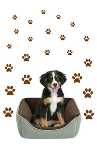 BROWN PAW PRINT STICKERS