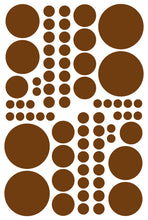 Load image into Gallery viewer, BROWN POLKA DOT DECALS