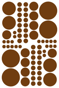 BROWN POLKA DOT DECALS