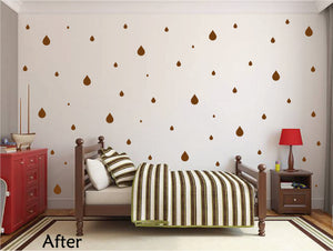 BROWN RAINDROP WALL GRAPHICS