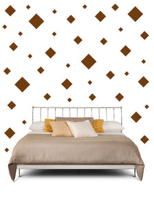 BROWN SQUARE WALL STICKERS