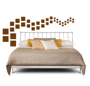 SQUARE WALL DECALS IN BROWN