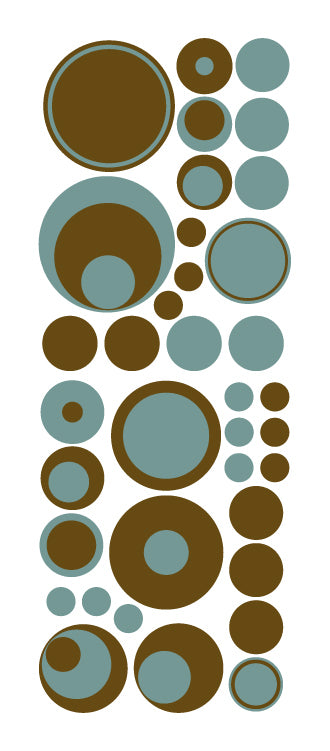 Brown aqua polka dot wall decals from whimsidecals.com