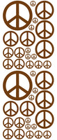 BROWN PEACE SIGN DECAL