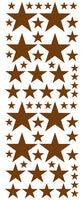 BROWN STAR DECALS