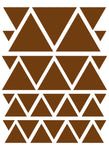 BROWN TRIANGLE WALL DECALS