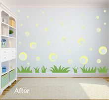Load image into Gallery viewer, PALE YELLOW BUBBLE WALL DECALS