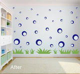 ROYAL BLUE BUBBLE WALL STICKERS