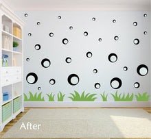 Load image into Gallery viewer, BLACK BUBBLE WALL STICKERS