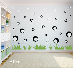 BLACK BUBBLE WALL STICKERS