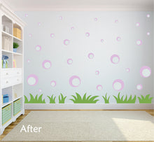 Load image into Gallery viewer, LAVENDER BUBBLE WALL STICKERS