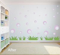LAVENDER BUBBLE WALL STICKERS