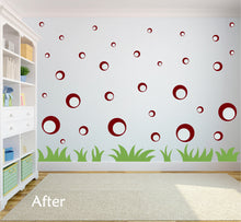 Load image into Gallery viewer, MAROON BUBBLE WALL STICKERS