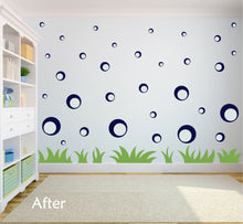 Load image into Gallery viewer, NAVY BLUE BUBBLE WALL STICKERS