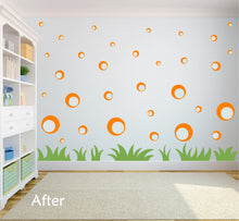 Load image into Gallery viewer, ORANGE BUBBLE WALL STICKERS