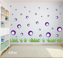 Load image into Gallery viewer, PURPLE BUBBLE WALL STICKERS