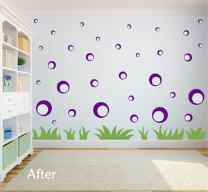 PURPLE BUBBLE WALL STICKERS