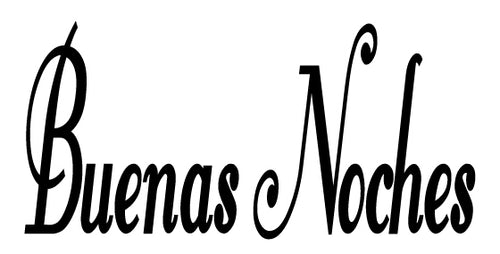 BUENAS NOCHES SPANISH WORD WALL DECAL