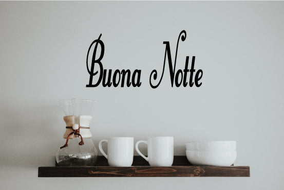 BUONA NOTTE ITALIAN WORD WALL DECAL