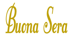 BUONA SERA ITALIAN WORD WALL DECAL IN GOLD