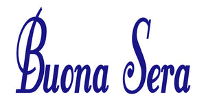 BUONA SERA ITALIAN WORD WALL DECAL IN ROYAL BLUE