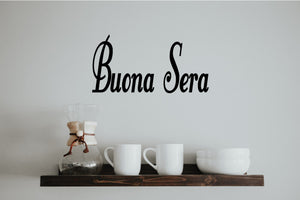 BUONA SERA ITALIAN WORD WALL DECAL