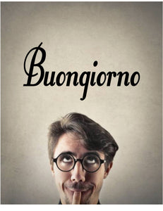 BUONGIONO GOOD MORNING ITALIAN WORD WALL DECAL GOOD MORNING