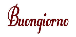 BUONGIONO GOOD MORNING ITALIAN WORD WALL DECAL MAROON