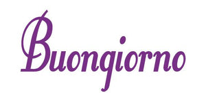BUONGIONO GOOD MORNING ITALIAN WORD WALL DECAL PURPLE