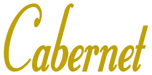 CABERNET WALL DECAL GOLD