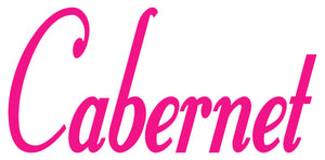 CABERNET WALL DECAL HOT PINK