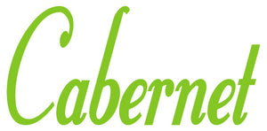 CABERNET WALL DECAL LIME GREEN