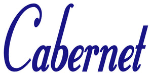 CABERNET WALL DECAL ROYAL BLUE